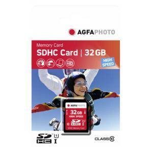 Agfa SDHC 32GB class 10 UHS I - AGFA555723 (+ 1x 32GB GRATIS!)
