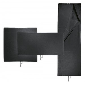 Avenger Senčilo s črno tkanino z okvirjem - AVEI1024 (120x120cm)