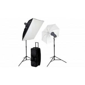 Helios studijski komplet-E serija 400Ws - BIG4280435 (2x 200WsE,Softbox 80x100cm,2x standard reflektor,)