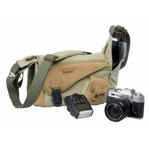 Kalahari foto torba KAPAKO K-30 canvas khaki - BIG440030 (mere: notranje:22x14x9/546g)