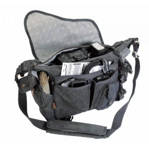 Kalahari foto torba KAPAKO K-31 canvas črna - BIG440131 (mere: notranje:31x22x10,5/1100g)