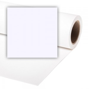 Colorama ARTIC BELA 1,35x11m papirnato ozadje - CO565 (polovična rola)