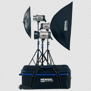 Hensel INTEGRA Plus kit Pro, - HENSEL50400 (2x500Ws,1x250Ws,1xflood refl.,1x7 reflektor+satov,)