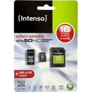 Intenso microSDHC 16GB class 10 + - INTENSO115677 (SD adapter)