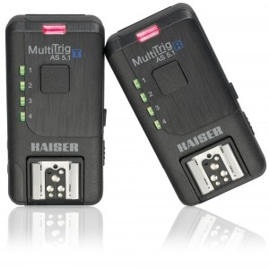 Kaiser wireless trigger set MultiTrig AS 5.1 - KAISER7001 (sprejemnik + oddajnik proženje HotShoe in studijsk)