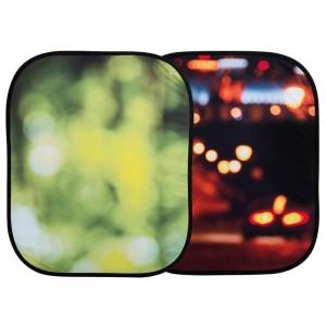 Lastolite OutOfFocus ZLOŽLJIVO 1,2x1,5m - LASTOLB5730 (Poletno listje/Mestne luči - Obračljivo)