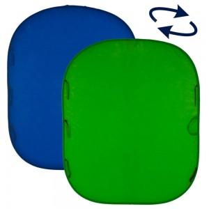 Lastolite CHROMAKEY ZLOŽLJIV OBRAČLJIV 1,5x1,8m - LASTOLC5687 (MODER/ZELEN)