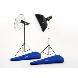 Lastolite LUMEN8 FLASH KIT F400 z 2x F400, - LASTOLL3500RT (2x reflektor,2x stojalo,1x dežnik,1x softbox)
