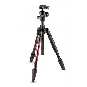 Manfrotto BeFree Advance ALU TWT stojalo rdeč - MKBFRTA4RD-BH (z glavo RC2 Quick release, max 8kg, torba)