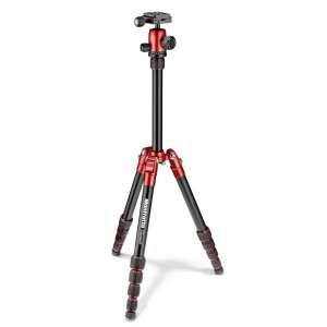 Manfrotto Element Traveller kit SMALL rdeč - MKELES5RD-BH (glava Quick release, torba)