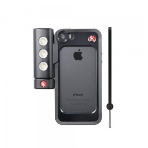 Manfrotto KLYP iPHONE zaščita črna + - MKLKLYP5S (SMT Led luč za iPHONE 5/5S)