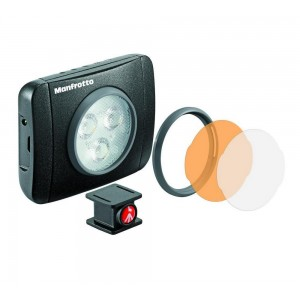 Manfrotto Lumimuse 3 LED light - MLUMIEPL-BK (220lux-1m, 5600K, CRI 92, 3 stop.dimer)