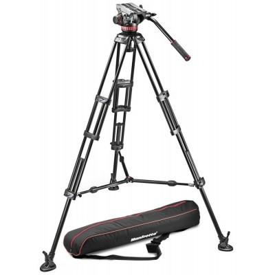 Manfrotto 502A video glava + - MVH502A,546BK (546B Video PRO stojalo + torba MBAG100PN)