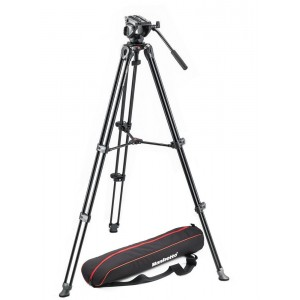 Manfrotto twin legs ALU stojalo MVT502AM, - MVK500AM (MVH500A Video glava + torba,)
