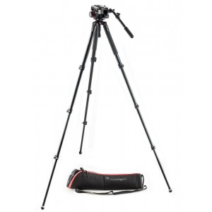 Manfrotto 504 ALU single leg VIDEO sys - MVK504AQ (MVH504HD Video glava+MVT535AQ+torba,)