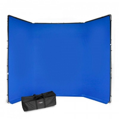 Manfrotto Chroma Key FX ozadje kit moder - MLBG4301KB (zložljivo ogrodje + tekstilno ozadje 4x2,9m, torba)