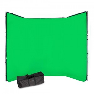 Manfrotto Chroma Key FX ozadje kit zelen - MLBG4301KG (zložljivo ogrodje + tekstilno ozadje 4x2,9m, torba)