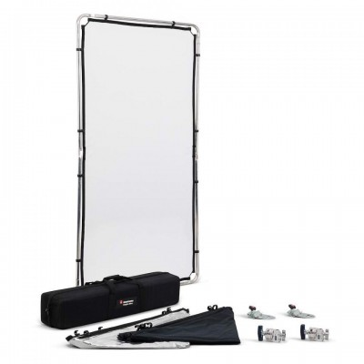 Manfrotto Pro Scrim All in One kit Medium 1,1x2,0m - MLLC1201K (1,25 STOP, črna prevleka, Srebrn/bel odbojnik,)