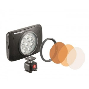 Manfrotto Lumimuse 8 LED light - MLUMIEMU-BK(550lux-1m, CRI 92, 5600K, 4 stopenski dimer  )