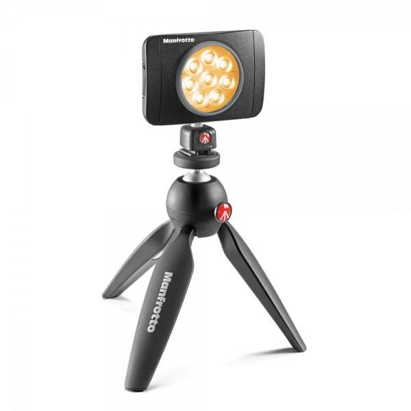 Manfrotto Lumimuse 8 LED light - MLUMIEMU-BK (550lux-1m, CRI 92, 5600K, 4 stopenski dimer)