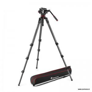 Manfrotto 504x fluid video glava + - MVK504XCTALL (536 Karbon Single video stojalo)