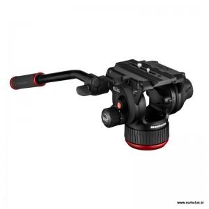 Manfrotto FLUID VIDEO GLAVA Flat - MVH504XAH (ravna baza, ploščica 504PLOGR-1, max.:12kg,)
