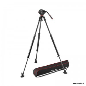 Manfrotto 504X fluid video glava + - MVK504XSNGFC (635 Fast Single Karbon video stojalo)