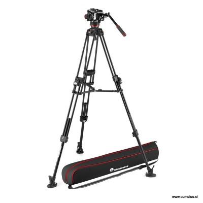 Manfrotto 504x Fluid video glava + 645 Fast Twin Alu video stojalo - MVK504XTWINFA