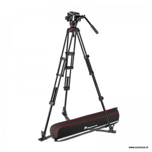 Manfrotto 504x Fluid video glava + Alu Twin video stojalo GS - MVK504XTWINGA