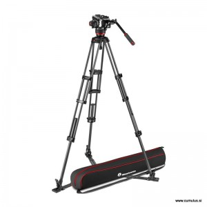 Manfrotto 504x fluid video glava + - MVK504XTWINGC (CF Twin video stojalo GS)