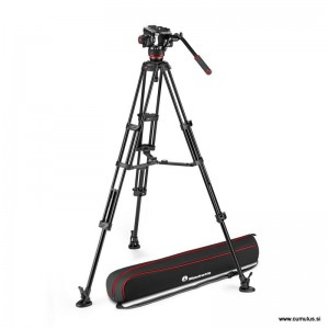 Manfrotto 504x fluid video glava + Alu Twin video stojalo MS - MVK504XTWINMA