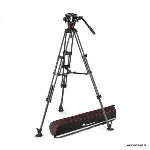 Manfrotto 504x fluid video glava + CF Twin video stojalo MS - MVK504XTWINMC